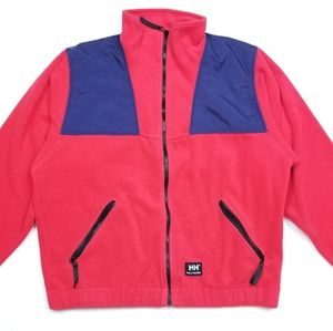 VTG Helly Hansen Full Zip Red Fleece Jacket